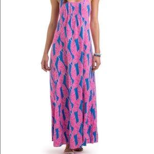 Vineyard Vines feather maxi dress size 16